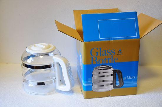 Obrázok Biela sklenená nádoba + náhradný nos biely so sklom
